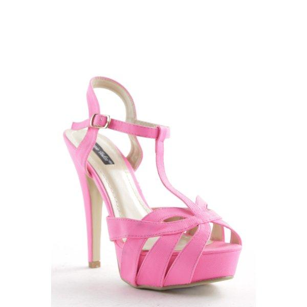 Sergio Todzi High Heel Sandaletten neonpink Party-Look