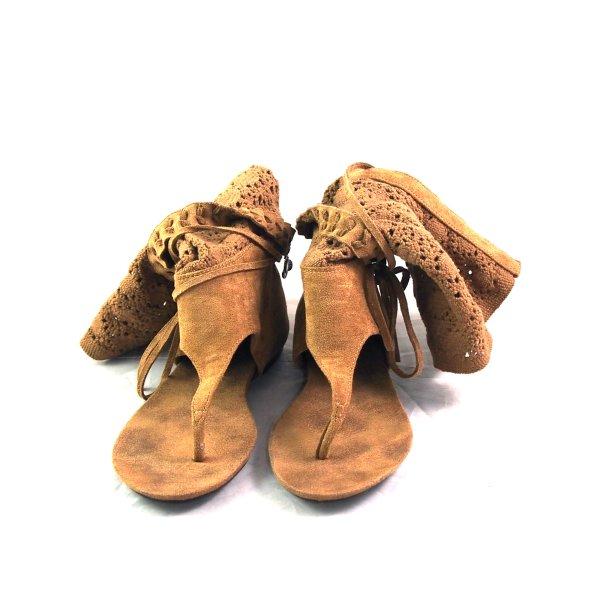 Sergio Todzi Schwarz Ibiza Sandalen Stiefel Damen Women Black Boots aus France, Gr. 39