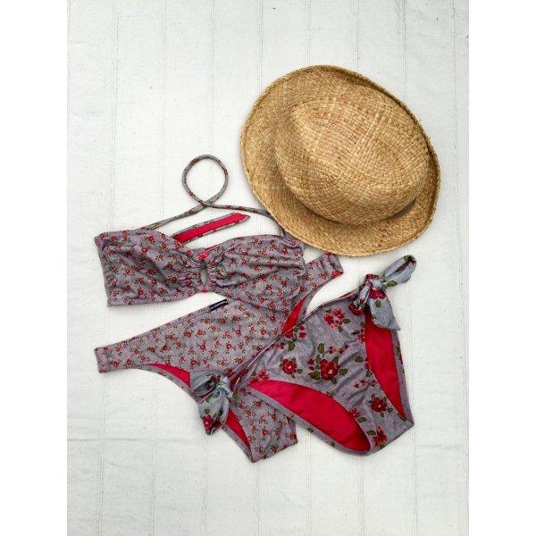 SET: CALZEDONIA Cobey Bikini (36) + Extrahöschen + ORSAY Strohsonnenhut