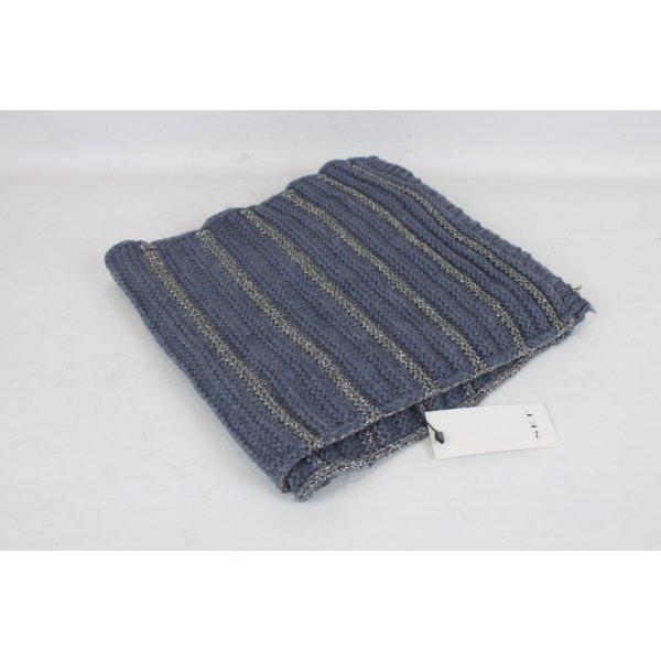Noa Noa Écharpe en tricot argenté-bleu acier tissu mixte