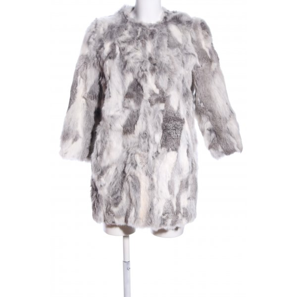Sfera Felljacke hellgrau Allover-Druck Casual-Look