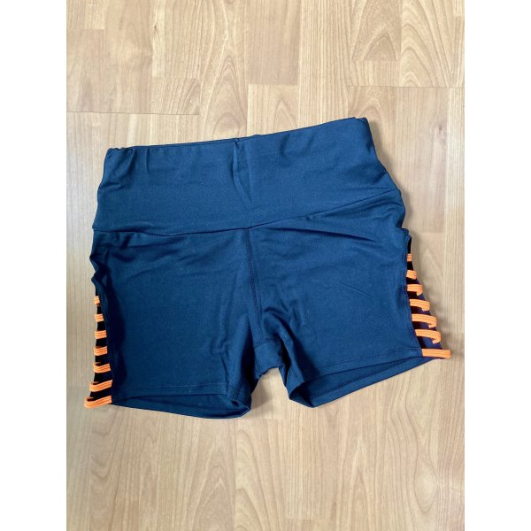 SheIn Shorts negro-naranja