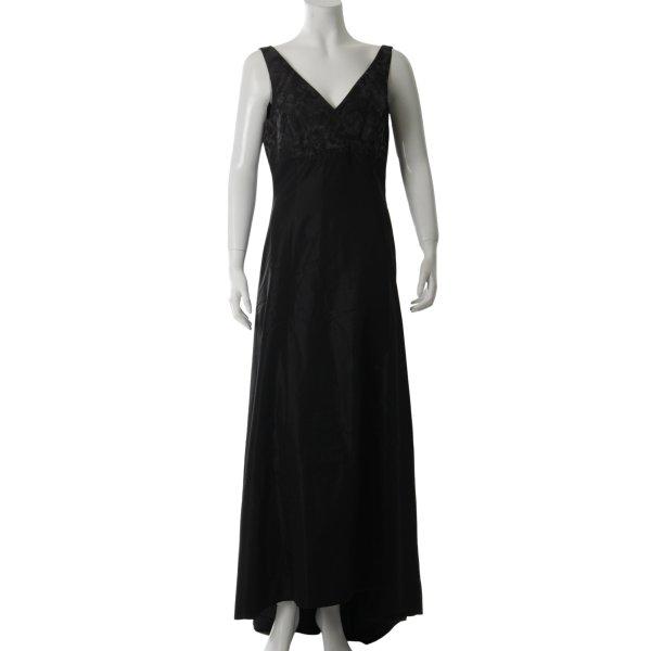 She Abendkleid schwarz-grau Matt-Optik