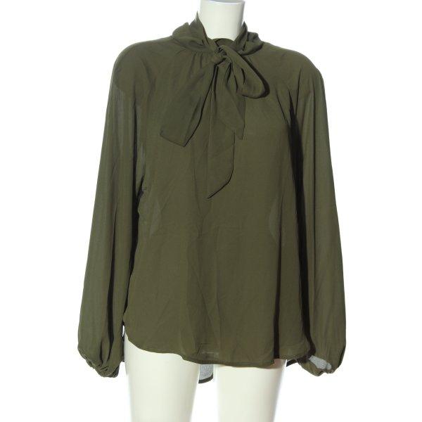 SheIn Langarm-Bluse khaki Business-Look