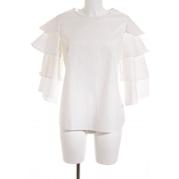 SheIn Langarm-Bluse weiß Street-Fashion-Look