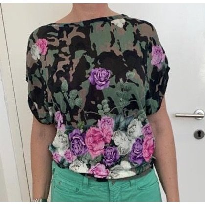 Bluegirl Print Shirt khaki