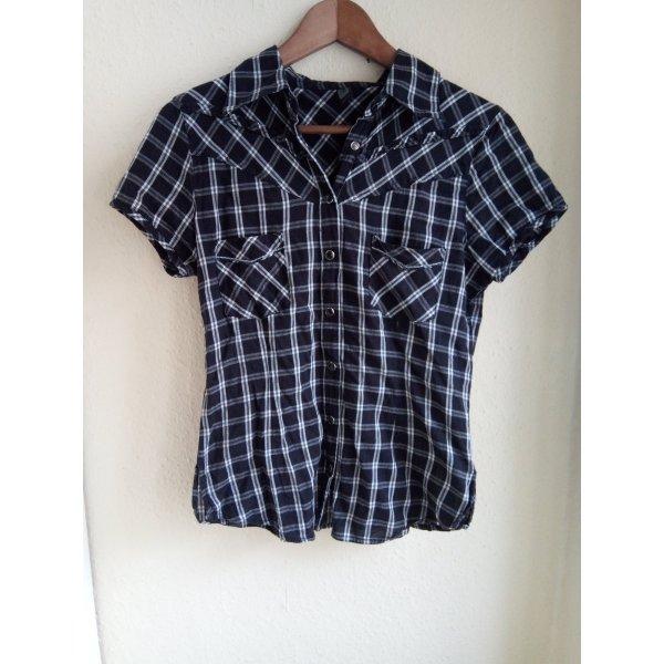 Shirt Bluse Western-Look Karo 36