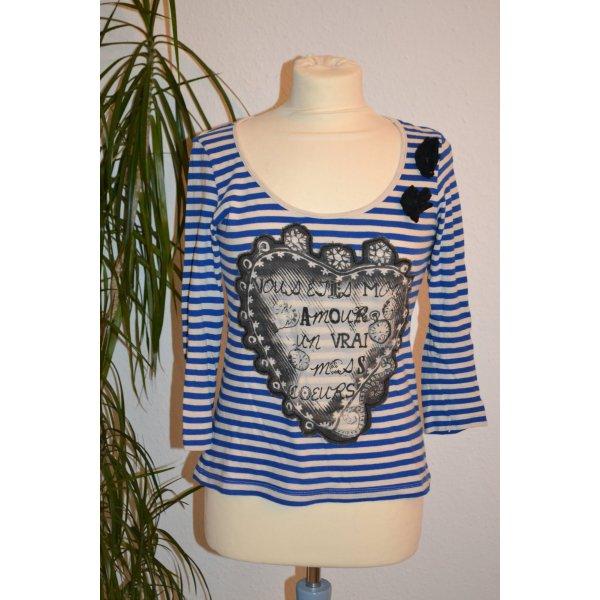Shirt gestreift Frontprint 3/4 Arm Vero Moda Blogger Hipster