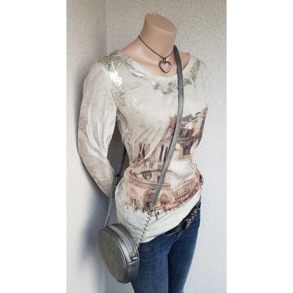 Lindsay Moda Print Shirt cream