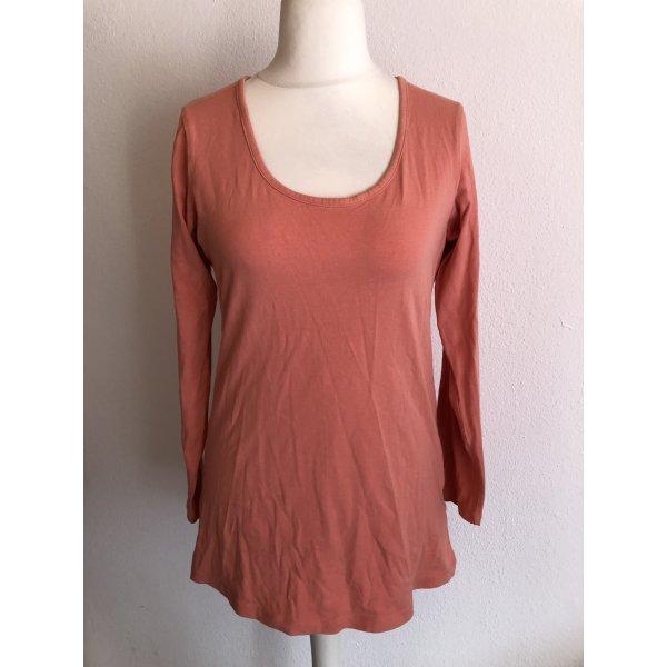 Shirt Oberteil Longshirt Basic lachs Gr. 40/42