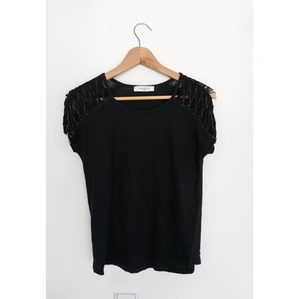 Shirt schwarz, Leinen