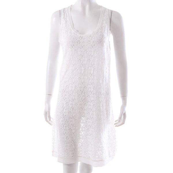 Shirtkleid aus weißer Spitze