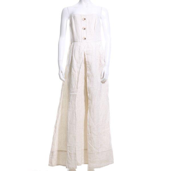Shona Joy Jumpsuit creme-wollweiß Streifenmuster Elegant