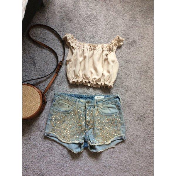 Shorts mit Glitzer und Pailletten