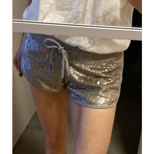Shorts von Amisu Gr.XS in grau mit Pailletten