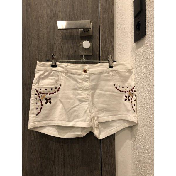 Shorts weiß mit roten Steinen