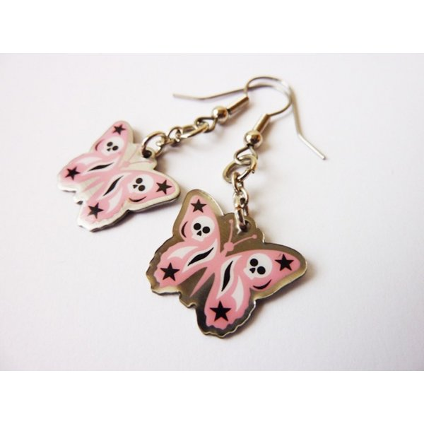 silber Schmuck  Schmetterlinge Ohrhänger Butterfly Ohrringe Wildcat NEU