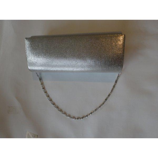 Silberfarbene elegante schlichte Clutches