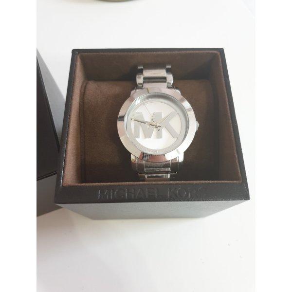 silberne Armbanduhr von Michael Kors