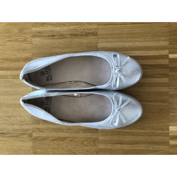 Blue Motion Ballerinas silver-colored