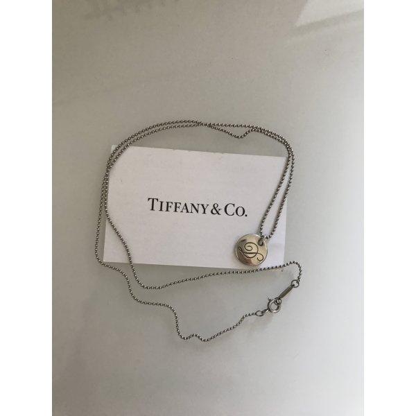 """Silberne Tiffany Kette mit Anhänger mit der Buchstabe """"D"""""""
