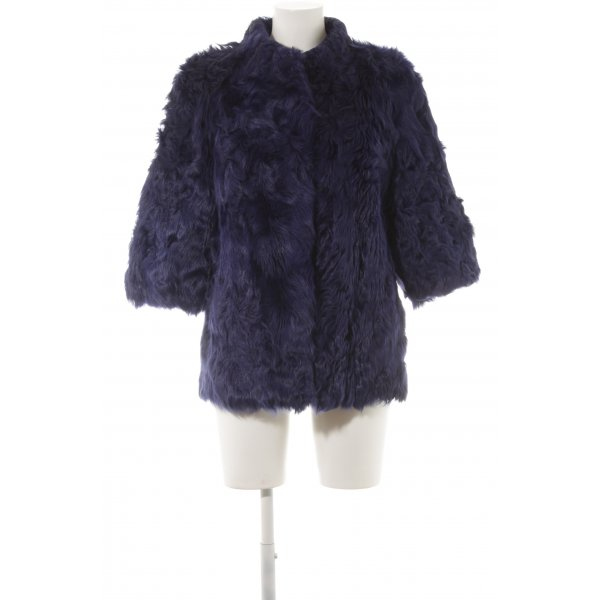 Silvian heach Kunstfelljacke blau Street-Fashion-Look