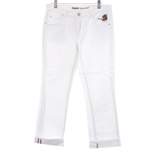 Sinéquanone Jeans a 7/8 motivo floreale Stile Boho