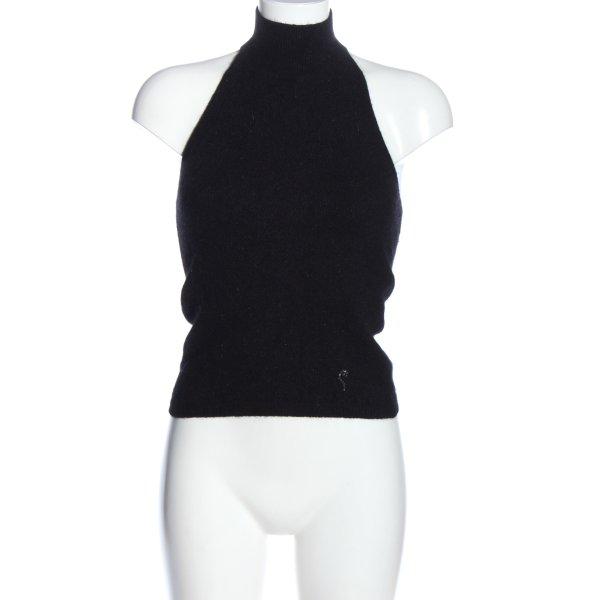 Sisley ärmellose Bluse schwarz meliert Casual-Look