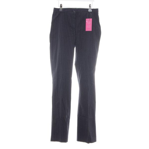 Sisley Anzughose dunkelblau Streifenmuster Business-Look