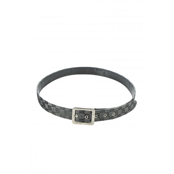 Sisley Hüftgürtel schwarz-silberfarben Karomuster Casual-Look