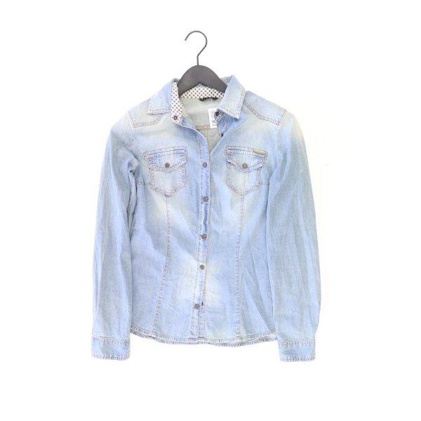 Sisley Jeansbluse Größe S Langarm blau
