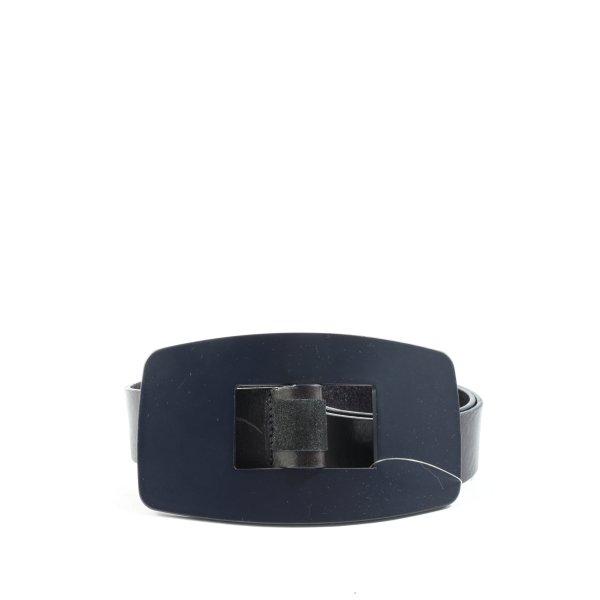 Sisley Ledergürtel blau-schwarz Casual-Look
