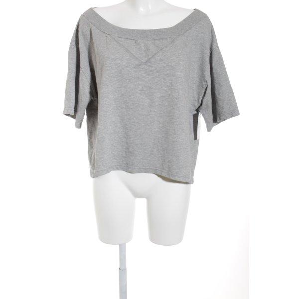 Sisley Sweatshirt hellgrau meliert Casual-Look