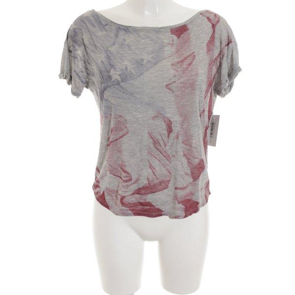 Sisley T-Shirt abstraktes Muster sportlicher Stil