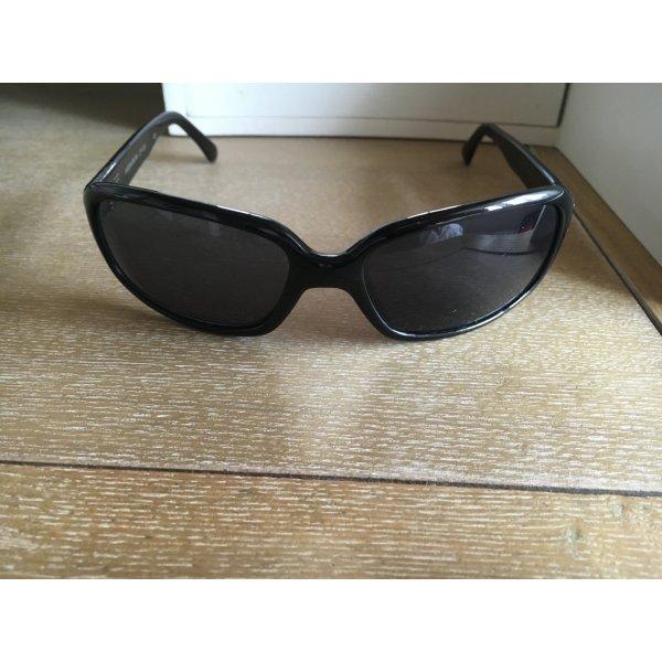 Six Sonnenbrille schwarz schmal sunglasses Silber