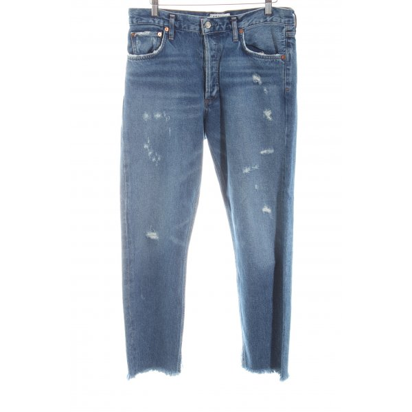 Slim Jeans graublau Destroy-Optik