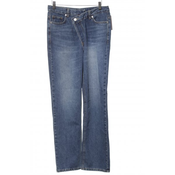 """Slim Jeans """"Love you so much more than yesterday"""" blau"""