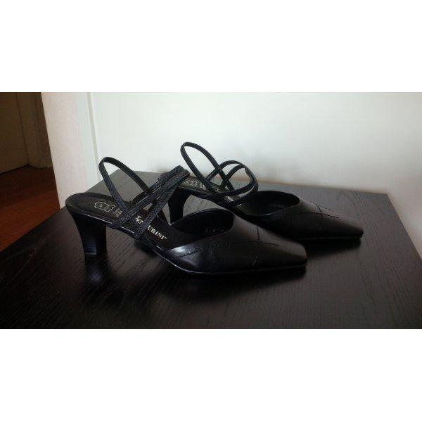 Slingback-Pumps, schwarz, Echtleder, NEU mit Etikett, Business Look