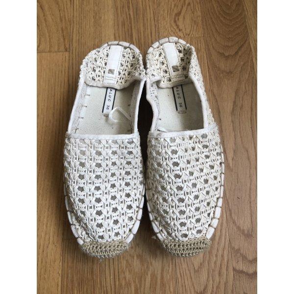 Slipper im Espadrilles Style | Weiß