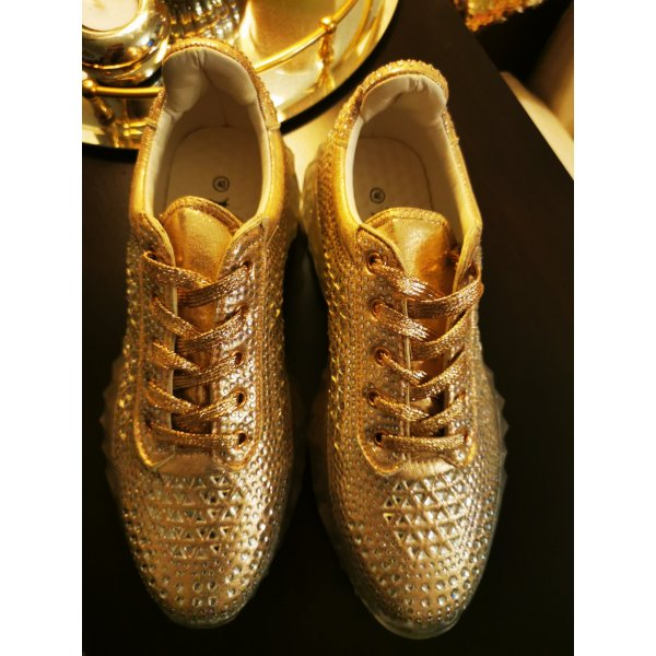 Sneaker Gold Glitzer 40 NEU
