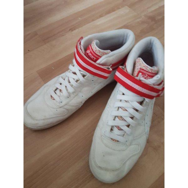 Asics Zapatillas con velcro blanco-rojo