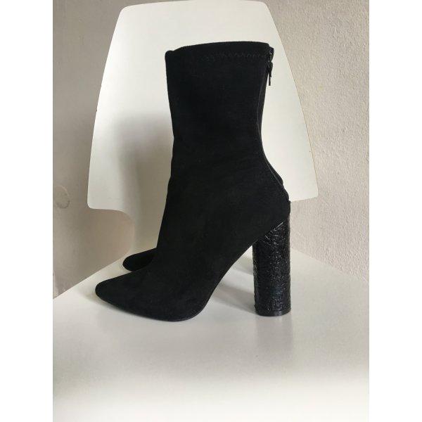 Sock Boots Absatz schwarz Gr. 39