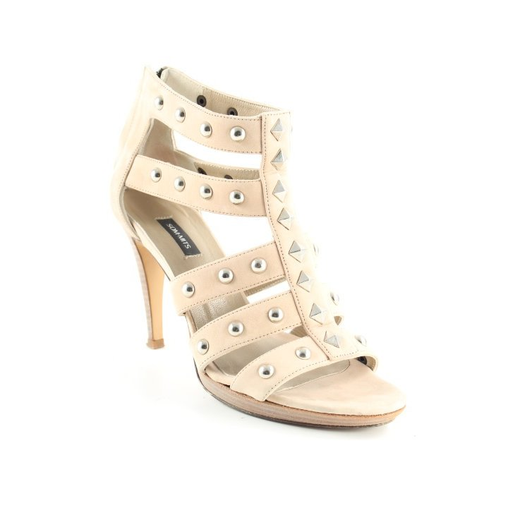 Som Mits High Heels beige Party-Look