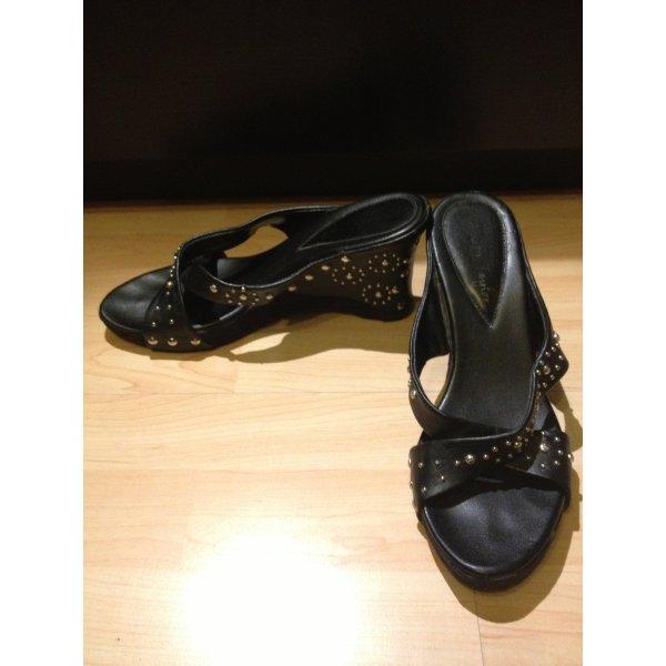 Jennifer Taylor Heel Pantolettes black imitation leather