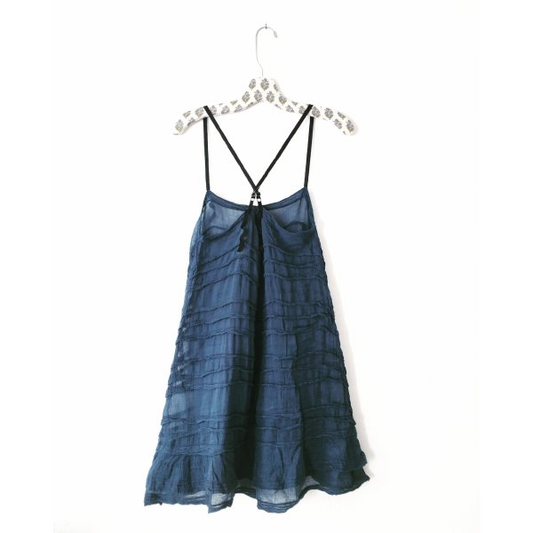 sommerkleid • anthropologie • blau • bohostyle • hippielook • romanticlook