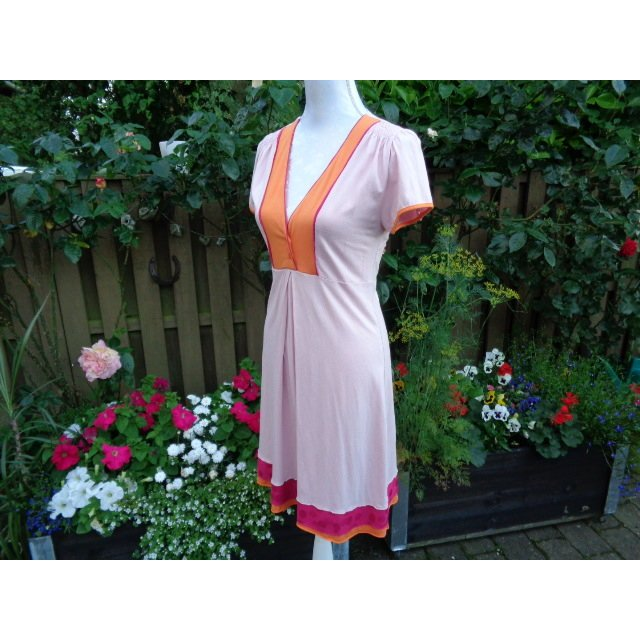 Vestido de manga corta multicolor Viscosa