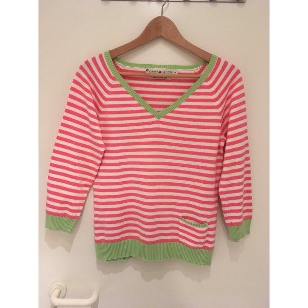 Sommerlicher Streifen-Pullover von Tommy Hilfiger in Größe 38 (M)