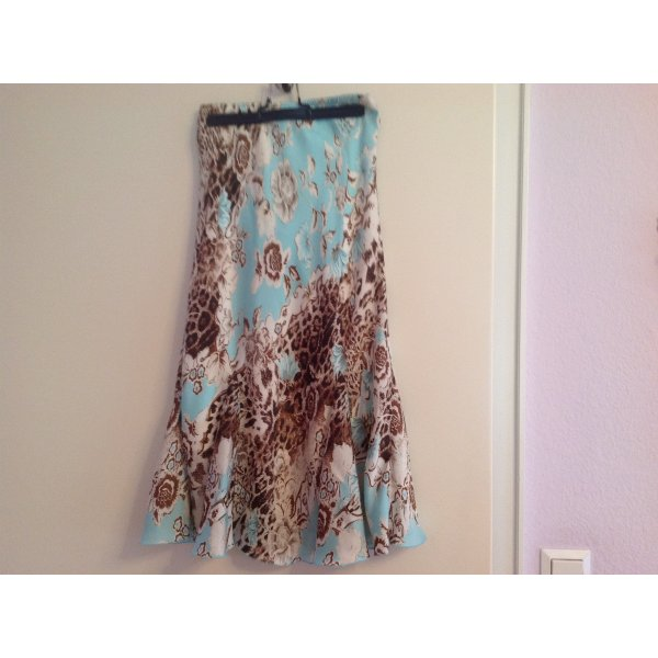 Biba Godetrok lichtblauw Polyester