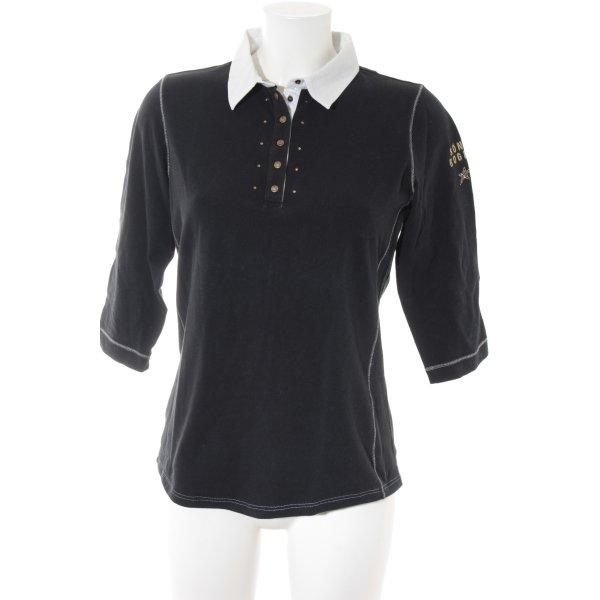 Sônia Bogner Polo-Shirt weiß-dunkelblau Casual-Look