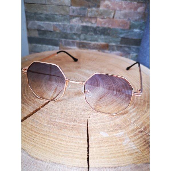 Angular Shaped Sunglasses gold-colored-azure